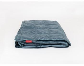 407461 Дорожное одеяло Kauffmann Travel plaid Petrol легкое 140х200
